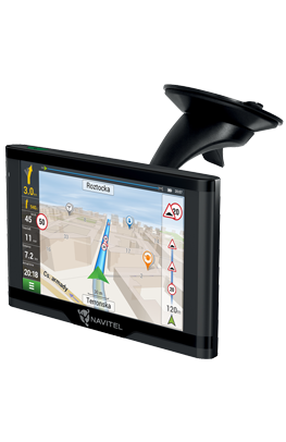 Modern car GPS navigator with a revolutionary magnetic mount.