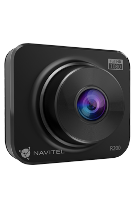 Light and compact DVR with high-quality optics and a built-in G-sensor